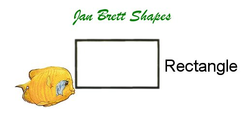 Jan Brett Geometric Shapes Flash Cards Rectangle Answer