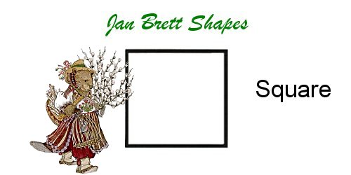 Jan Brett Geometric Shapes Flash Cards Square Answer