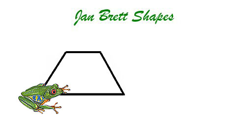 Jan Brett Geometric Shapes Flash Cards Trapezoid