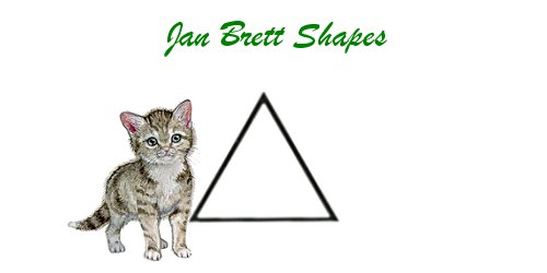 Jan Brett Geometric Shapes Flash Cards Triangle