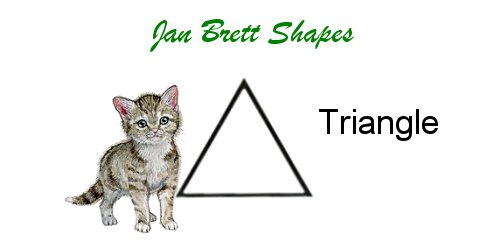 Jan Brett Geometric Shapes Flash Cards Triangle Answer