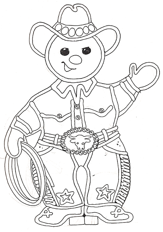 Gingerbread Mural Buckaroo Gingerbread Boy