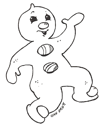 Free Coloring Pages Of Baby Gingerbread Gingerbread Boy Coloring Page