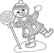 lollipop gingerbread girl gingerbread mural gingerbread girl with lollipop - Gingerbread Girl Coloring Page