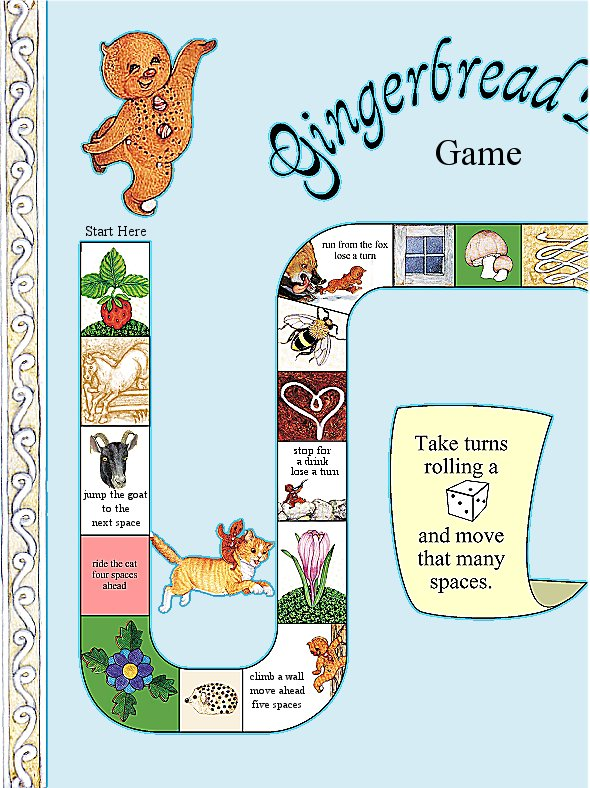 Gingerbread Baby Board Game left