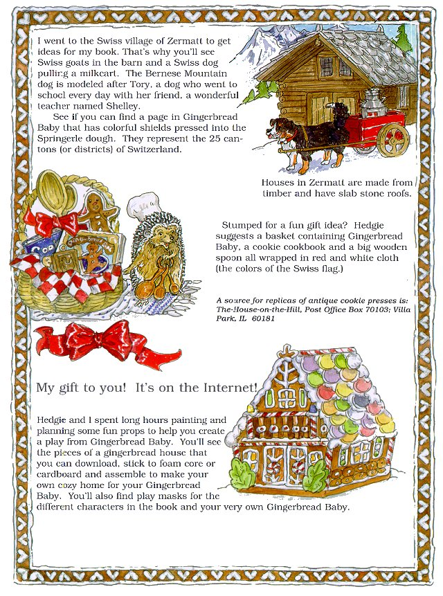 Gingerbread Baby Newsnotes Page 3