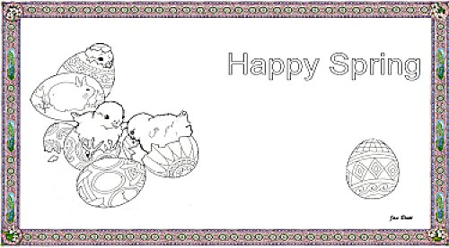 Happy Spring Coloring Place Mat