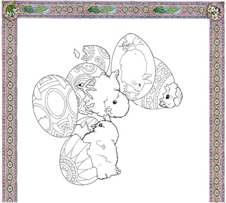 Happy Spring Coloring Place Mat left