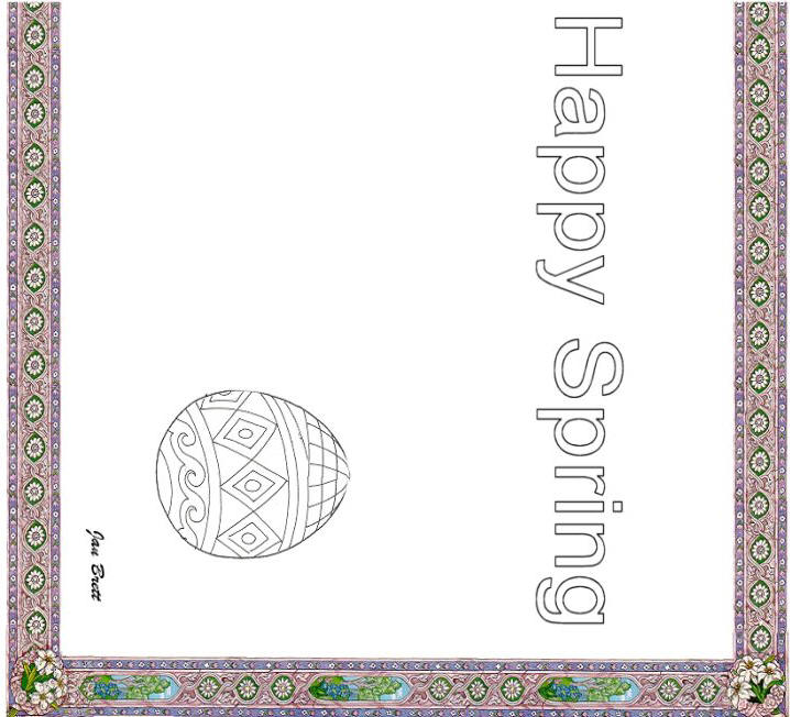 Happy Spring Coloring Place Mat right