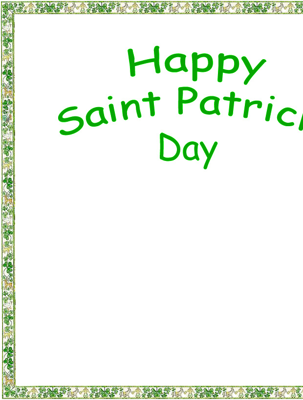 Happy Saint Patrick's Day Coloring Page left side