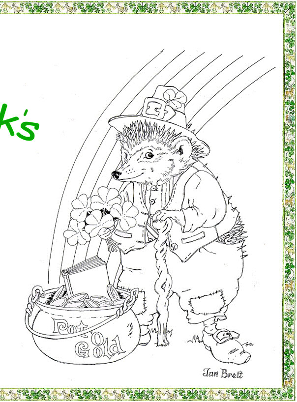 Happy Saint Patrick's Day Coloring Page right side