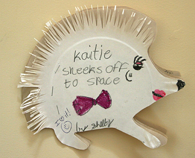 Hedgehog paper plate book project for How to make a book for a project