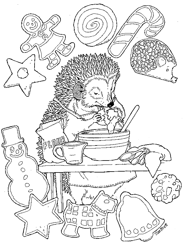 Hedgie's Cookies Coloring Page
