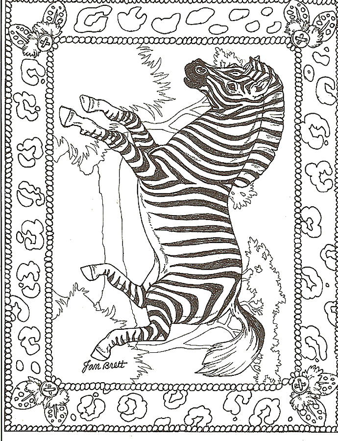 Honey...Honey...Lion Lion Framed Zebra Coloring Page