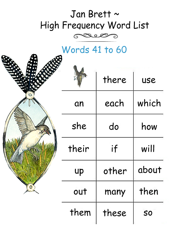 High Frequency Word List 41 - 60