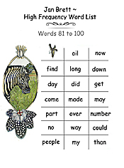 High Frequency Word List 81 - 100
