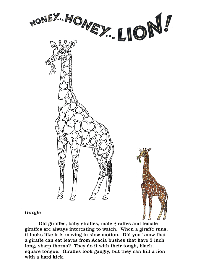 Honey...Honey...Lion! Coloring Pages  The Giraffe