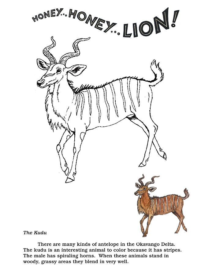 Honey...Honey...Lion! Coloring Pages  The Kudu