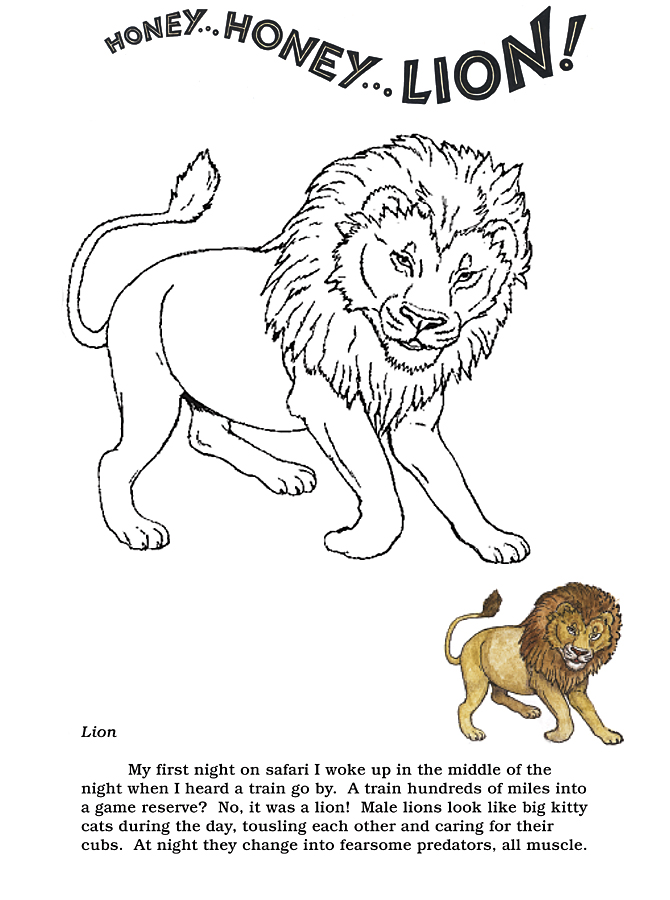 Honey...Honey...Lion! Coloring Pages  The Lion