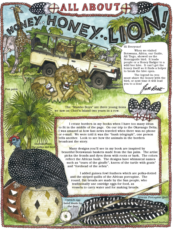 Honey...Honey...Lion! Newsnotes Page 1