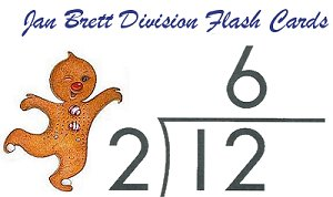 Jan Brett Division Flash Cards title