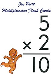 image relating to Free Printable Multiplication Flash Cards Pdf titled Jan Brett Multiplication Flash Playing cards