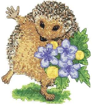 Hedgie Cross Stitch