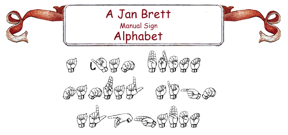 Jan Brett's Manual Sign Alphabet Line Bulletin Board Set