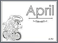 April printable coloring pages
