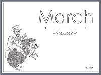 Jan Bretts Months of the Year Coloring Pages Century