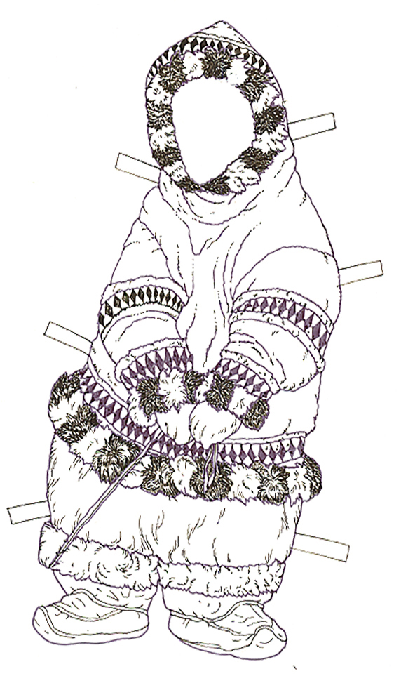 Three Snow Bears Polar Papa  Bear Clothes reversed