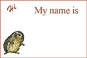 Hedgei Name Tags