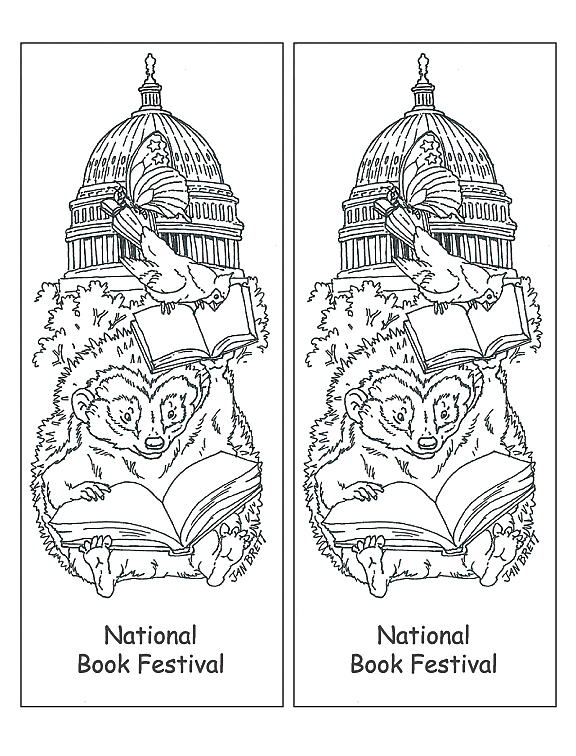 National Book Festival Coloring Bookmark
