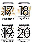 Flash Card Numbers 17 to 20