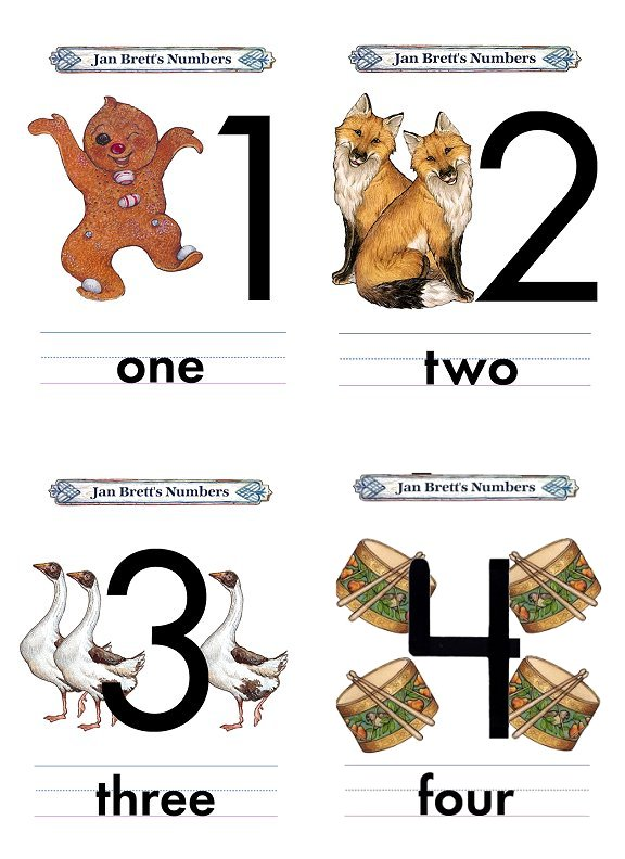 Number Four Open Top Flash Card