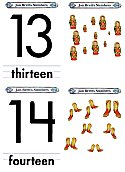 Matching Numbers Game 13 and 14 open top