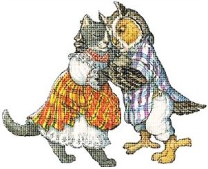The Owl and the Pussycat Cross Stitch
