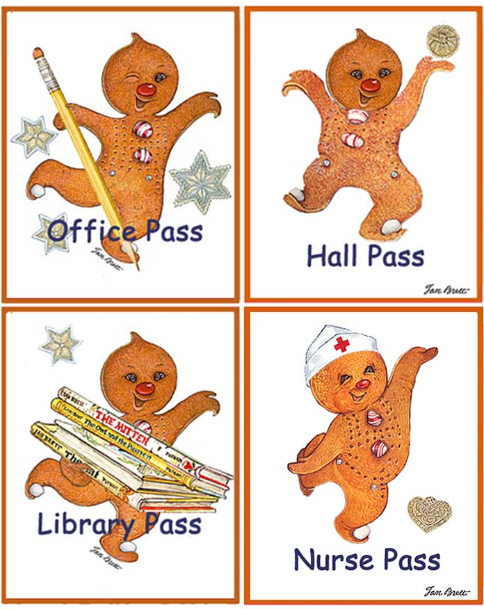 Passes for School and Library Gingerbread Baby