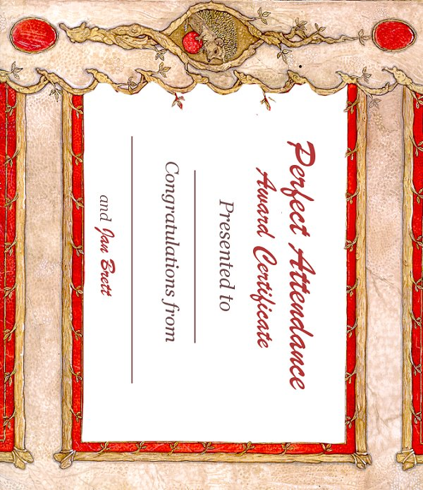 Perfect Attendance Award Certificate