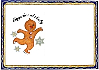Place Mat Gingerbread Baby