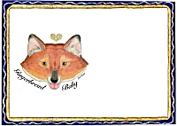 Place Mat Gingerbread Fox