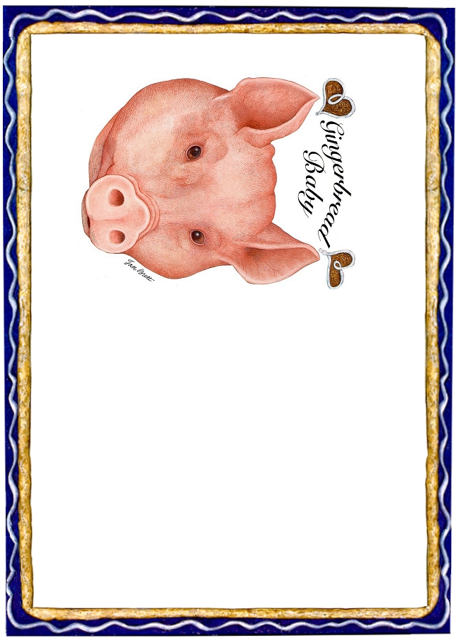 Place Mat Gingerbread Pig