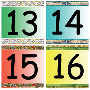 Pocket Calendar Dates 13 - 16