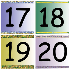 Pocket Calendar Dates 17 - 20