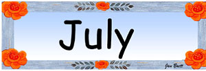 Pocket Calendar July