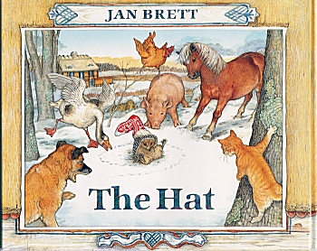 In The Hat By Jan Brett Animals Coloring Pages In Best