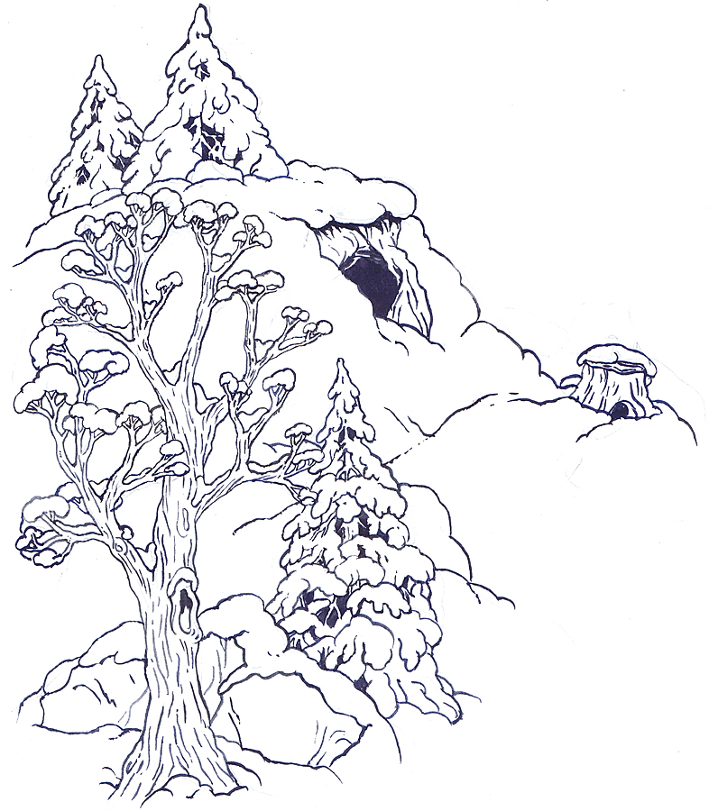 The Background Hill coloring page