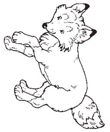 The Fox coloring page