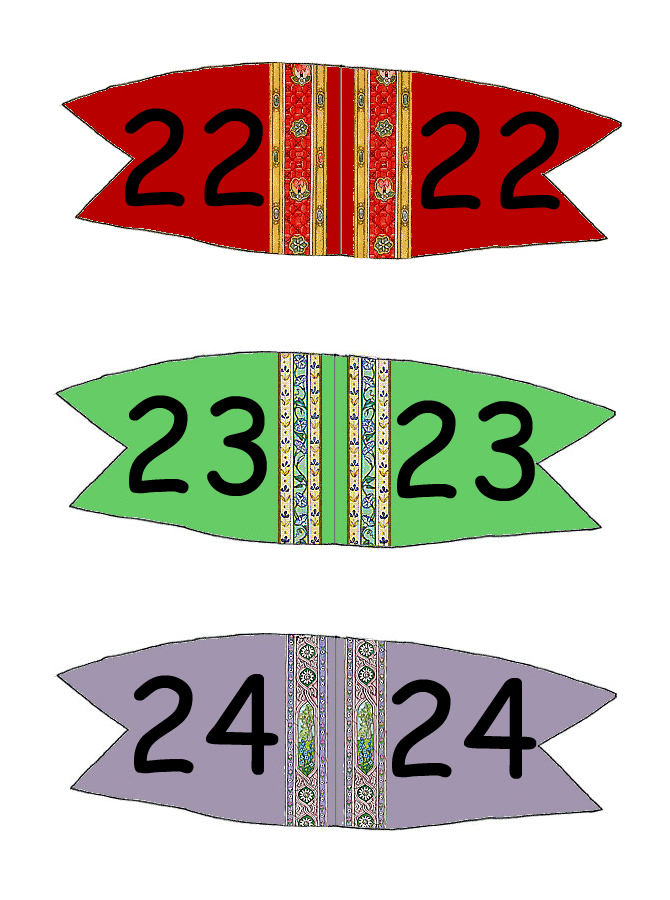 Toothpick Number Flags 19 - 24