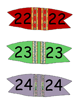 Toothpick Number Flags 22 - 24